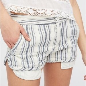 Free People NWOT Night Moves Cotton Striped Shorts